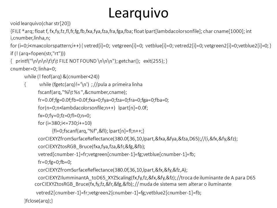Learquivo void learquivo(char str[20])